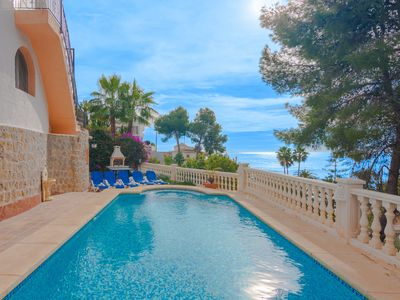 Photo for MARSO, charming villa with sea and mountain views in Benissa