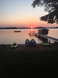 Photo for Beautiful Traverse  City - Long Lake Cottage with Sandy Beach & Pontoon Boat!*