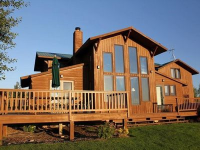Photo for Beautiful Timber Frame House with Teton Views & Hot Tub