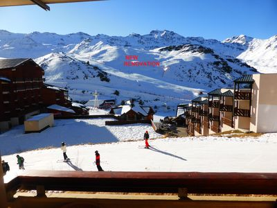 Photo for Val Thorens, quiet apartment facing south; ski on foot for 5/7 people