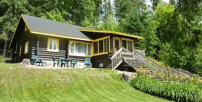 Photo for Charming log cabin in the Laurentians