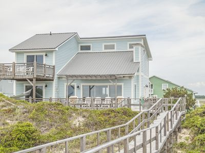 Photo for Beach Buzz: 4 Bed/3 Bath Oceanfront Home with Numerous, Large Oceanfront and Sound Side Decks