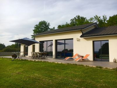 Photo for Quiet modern villa with stunning views just minutes from Périgueux