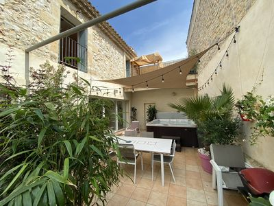 Photo for Charming village house in old stones, 5 CH and SPA