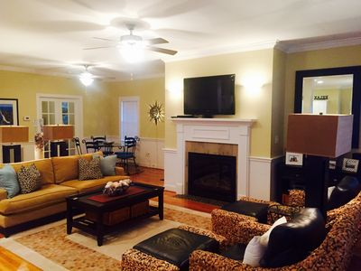 Wide open, flowing, modern AND comfy space for conversation and TV viewing!