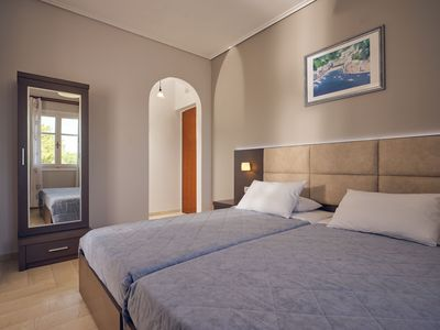 Photo for Plaka Beach - Double or Twin Room Street View