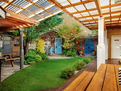 Photo for SW Portland Villa With Incredible Patio 8 Miles To Downtown 1/2 Mile To MAX One Block To Park