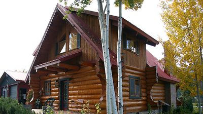 An authentic log cabin experience