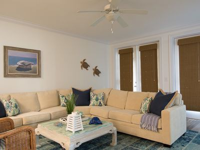 Photo for Spacious 3BR Condo w/ Balcony, Private Boat Slip – Directly Across from Beach