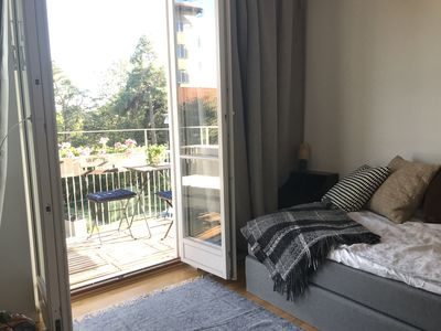 Photo for Waterfront with lovely sunny balcony 1-bedroom & big kitchen