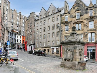 Photo for Fantastic location overlooking Grassmarket! Everything within walking distance.