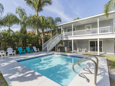 Photo for Modern Beach House with Private Pool! 1/2 block from beach!
