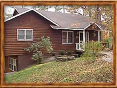 Photo for Cabin, 3 beds/baths, sleeps 8, large yard for pets, hot tub, stocked kitchen