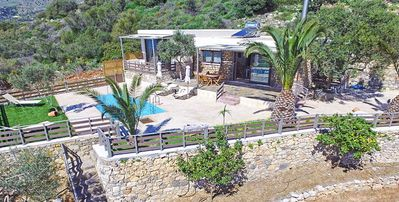 Photo for Villa with pool and sea views for 5 persons at plakias, Crete