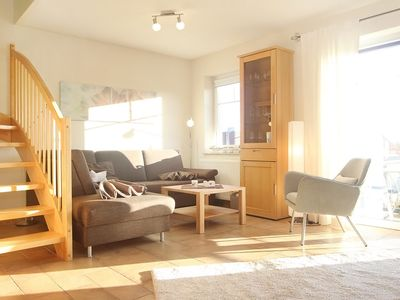 Photo for cozy 3-room apartment on 2 levels, south-facing balcony, near the beach, fireplace