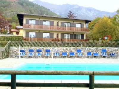 Photo for Renovated apartment with lake view, swimming pool, wifi, in Val di Ledro