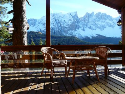Photo for fantastic view on Rosengarten and Latemar