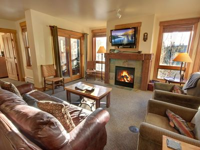 Photo for Spacious Three Bedroom Just Steps from the Gondola!  Best Pool in Keystone!