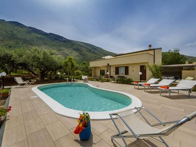 Photo for Villa Mimosa in western Sicily, with 4 bedrooms, 2 bathrooms, private pool, it can accommodate up to