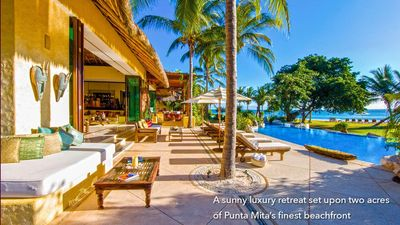 Photo for Villa in Punta Mita beachfront - Casa Amore