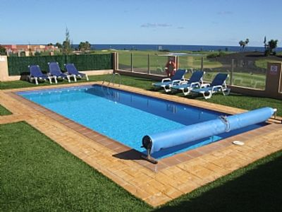 Photo for Luxuary AirConditioned Villa With Private Heated Pool, Golf Course And Sea Views