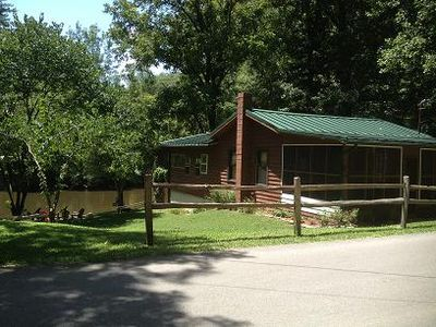 Photo for Smoky Mountain Riverfront Cabin in Townsend Tennessee