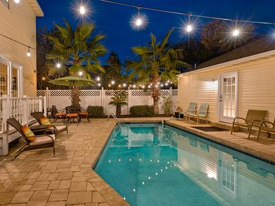 Photo for Cool Breeze Pr Pool-2Blks to Bch Main House w Guest Qtrt-Golf Cart Incl off seas