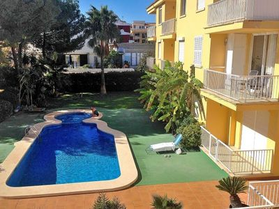 Photo for One bedroom Apartment, sleeps 3 with Pool, FREE WiFi and Walk to Beach & Shops