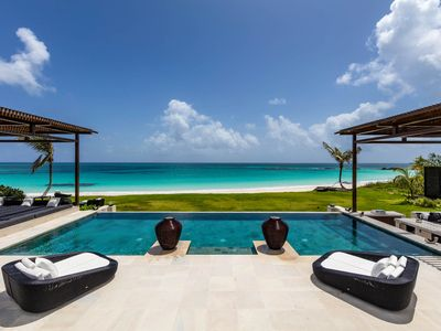 Photo for Ultra-Luxury Beachfront Estate with Pool on Pink Sand Beach, AS SEEN ON TMZ