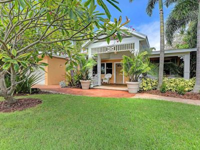 Photo for Comfy & dog-friendly home w/ private pool, 2 blocks from the beach!
