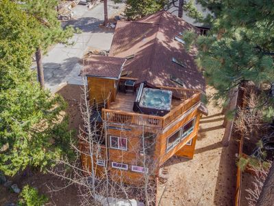 Photo for Grand home w/ private hot tub, lake views, elevator, Tesla charger - 2 dogs OK!