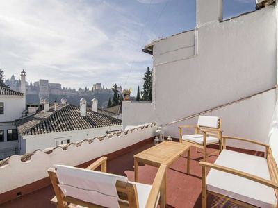 Photo for CASA ZAIDA (GRANADA) - ALBAICIN WITH TWO SUN TERRACES AND VIEWS OF THE ALHAMBRA