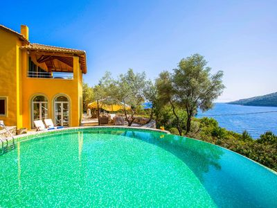 Photo for Villa Elpida - FREE CAR HIRE! Private pool, WI-FI & beautiful sea views