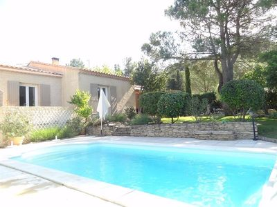 Photo for Villa at the foot of the Luberon with swimming pool