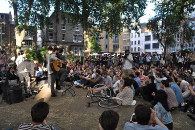 There's always something going on at Hoxton Square