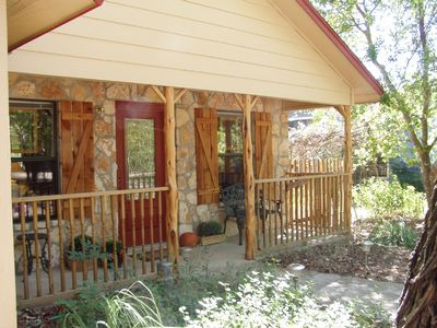 Beautiful Blanco River Cottage, on the river.  Perfect for all ages and pups too