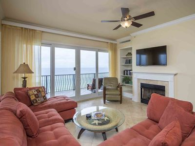 Photo for Beachfront Condo with Large Balcony with Unblocked Views! Spacious End Unit