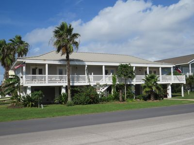 Key West style house.  Upstairs south unit is left of stairway.