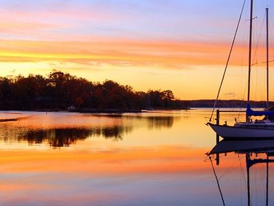 Photo for Our Home on the Cove: waterfront, peaceful, wooded, comfy, family friendly