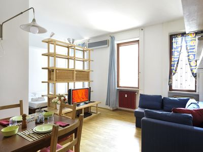 Photo for Egadi II apartment in Navigli with WiFi & integrated air conditioning.