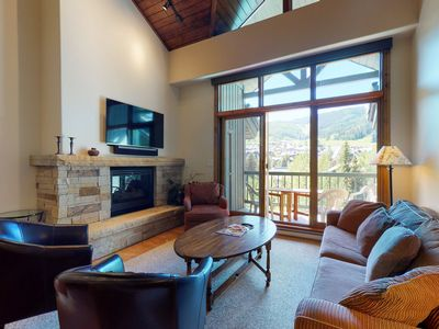 Photo for Spacious ski-in/ski-out condo with mountain views and shared pool & hot tub