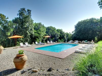 Photo for 6 bedroom property with private pool, gym, ping pong, 3 bikes 90km northern Rome