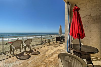 Leave the cold weather behind and escape to this beachfront studio in Carlsbad!