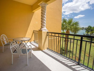 Photo for TWO Balconies!  Great Family Location. Waterfront Pool And Hot Tub.