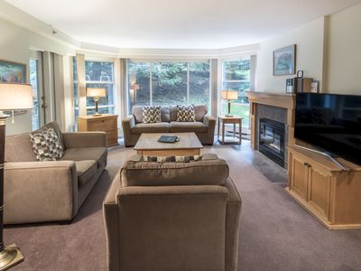 Photo for Spacious True Slopeside Ski In, Ski Out at the Woodrun Lodge - Slopeside 2BR Family Suite @Blackcomb w/Pool (Unit 220)