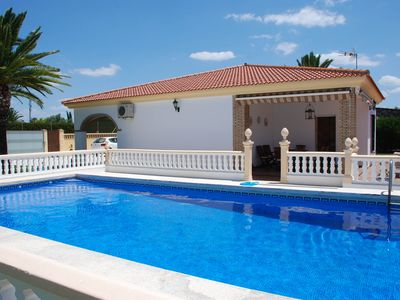 Photo for Stunning villa with large private pool and close to beach