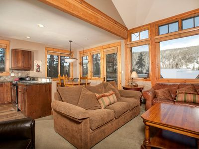 Photo for Gorgeous Ski Escape for Families and Groups with Fireplace and Balcony