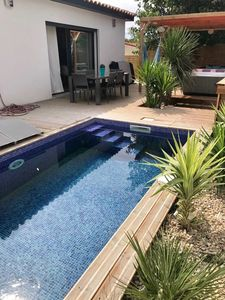 Photo for VILLA MARIE LUCIE new 6 pers heated pool & SPA CAP D AGDE 350 M BEACHES