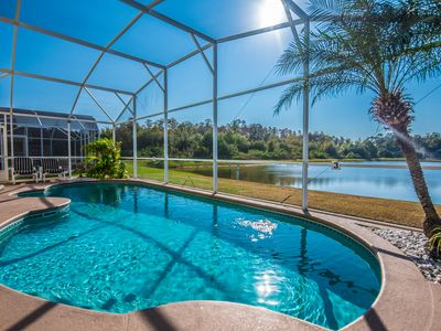 Photo for SOUTH FACING  Pool, Lakeview, 4 BR-2 Bath, Newly Renovated, 10 minutes to Disney