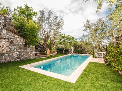 Photo for Casa Tatano, 4 bedrooms, 3 bathrooms  with Private Pool, Sea View, Parking, South Italy